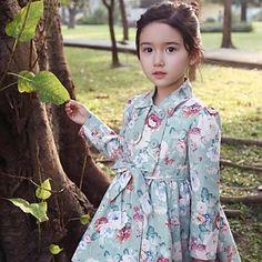 print floral gruesa capa de vestido de la muchacha caliente - EUR € 49.00