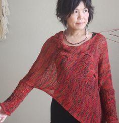 PDF Pattern: Jaunty Sweater Knitting por DanDoh en Etsy
