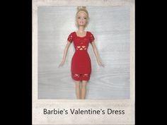 Crochet Barbie Valentine Dress - Tutorial - YouTube