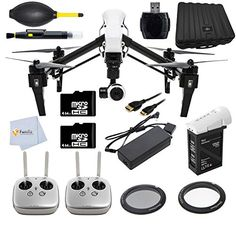 DJI Inspire 1 with Dual Remote Controllers Includes 2 64GB Memory Cards Extra Filters Battery Charger more