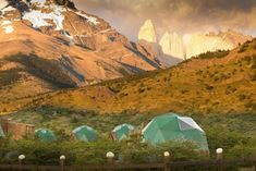 Located in the beautiful landscape of Chile's Torres del Paine National Park, EcoCamp Patagonia is a sustainable complex made up of upscale geodesic domes.