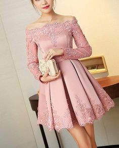 #1194 Off Shoulder Dress website www.dresses-up.com & follow @dressesup1012