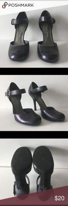 Gorgeous purple metallic 👠 Unique purple metallic shoes, worn once. Excellent condition Jessica Simpson Shoes Heels