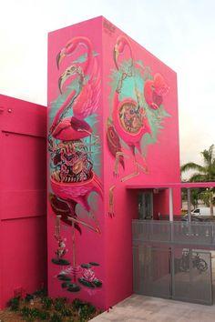 Sélection de la semaine, #WTF, #Cosplay, #Geek, #FunFacts, #Design, #Photographie, #Vrac - Street art – Nychos – Pelican rose