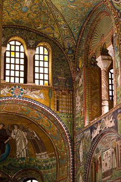 San Vitale: one of the most important examples of early Christian Byzantine art and architecture in Western Europe. Ravenna, Italy