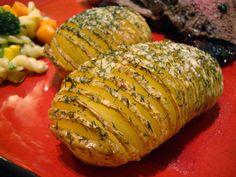Garlic Dill Hasselback Potatoes