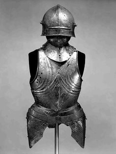 Elements of an Armor Date: ca. 1480–90 Culture: German or Austrian Medium: Steel Dimensions: H. as mounted, 35 in. (88.9 cm); Wt. 23 lb. 3 oz. (10.55 kg) Classification: Armor for Man Credit Line: Gift of George D. Pratt, 1926 Accession Number: 26.92.2a–g