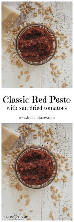Classic Red Pesto - it comes together in under 10 minutes and requires 5 simple ingredients: sun-dried tomatoes, pine nuts, parmesan, olive oil, and sea salt. Best Healthy Dinner Recipes, Keto Recipes, Breakfast Recipes, Vegetarian Recipes, Cooking Recipes, Healthy Dinners, Healthy Food, Red Pesto, Good Food