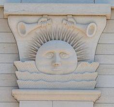 Sunstone on the Nauvoo Temple The sunstone represents the Celestial Kingdom!