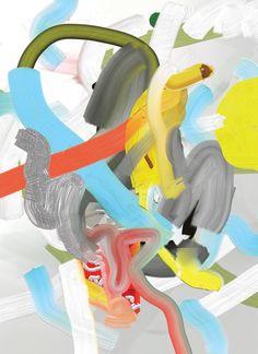 Bastien Aubry / Dimitri Broquard - Miscelanea, Barcelona, May 2011 Abstract Expressionism, Abstract Art, Pastel Palette, Funky Art, Expressive Art, Office Art, Chicano, Medium Art, Painting Inspiration