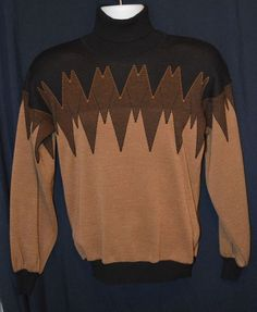 RARE VINTAGE Givenchy Black Tan Sweater Knit Size 36 S XS 100% AUTHENTIC #Givenchy #Turtleneck