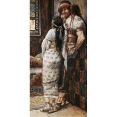 Samson and His Wife James Tissot (1836-1902 French) Jewish Museum New York City Canvas Art - James Tissot (18 x 24)