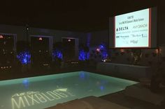 Pool gobo projection