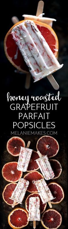 Stock your freezer with these Honey Roasted Grapefruit Parfait Popsicles. A five ingredient parfait becomes an anytime, anywhere treat when it's transformed into a popsicle. Roasted grapefruit segments, honey, almonds and yogurt create this amazingly flavorful seasonal treat suitable for breakfast or any time of day.