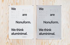 With the clarity and stringency of the products as reference we developed identity, printed matters, exhibition solution and responsive website for the progressive Swedish furniture producer Nonuform. nonuform.se