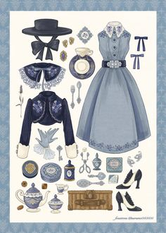 Fashion Design Drawings, Fashion Sketches, Diy Fashion Hacks, Fashion Outfits, Drawing Anime Clothes, Beautiful Costumes, Anime Outfits, Lolita Dress, Girl Costumes