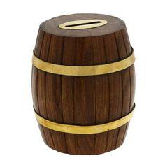 Barrel Shaped Money Cash Box Wooden Handcrafted by Artisan ShalinIndia,http://www.amazon.com/dp/B00D04Z8XW/ref=cm_sw_r_pi_dp_UNfitb0PA792PH92