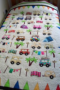 Vintage Camper Quilt Photo: This Photo was uploaded by Deedles_photos. Find other Vintage Camper Quilt pictures and photos or upload your own with Photo. Quilt Baby, Colchas Quilt, Quilt Blocks, Quilt Kits, Patchwork Quilting, Applique Quilts, Patchwork Baby, Crazy Quilting, Quilting Projects