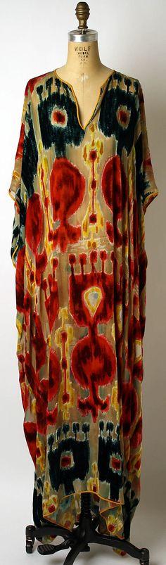 Caftan, House of Balmain, Designer Oscar de la Renta, S/S 1997, French, synthetic and silk