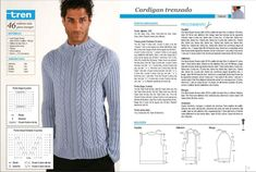Algunos patrones de tejido para hombre Knitting, Long Sleeve, Sleeves, Mens Tops, T Shirt, Man, Fashion, Dual Language, Kids Knitting Patterns
