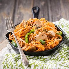 Fifteen-Minute Ginger Chicken Noodles from #onepotpaleo Cookbook  #  Ever had one of those days when you had to make dinner asap? Jenny here from @paleofoodiekitchen and here's another recipe from my cookbook, One-Pot Paleo for your next Whole30. The sweet potatoes holds up to stir-frying, and absorbed the seasonings really well.  You won't be able to tell at first bite that there are no noodles in this light and savory dish!  #  Ingredients:  #  2 tbsp tallow or coconut oil  1 tbsp ginger…