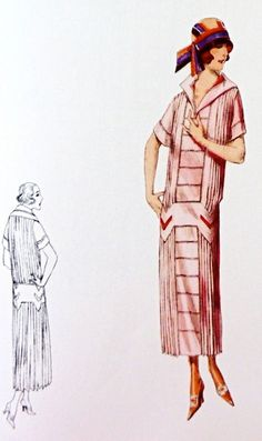 Dress sewing pattern from the 1920s Pleated navy by Contrapunt, €25.00