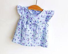 LIBERTY Style Girl Blouse Tunic Top Shirt pattern Pdf by PUPERITA, etsy