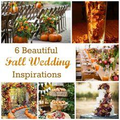 6 Beautiful Fall Wedding Inspirations