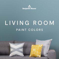 Benjamin Moore living room paint color ideas & inspiration. Paint Colors For Living Room, Room Paint Colors, Best Neutral Paint Colors, Event Room, Cool Paintings, Gossamer Blue, Neutral Carpet, Cool Undertones, Colour Trends