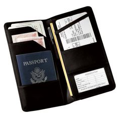 Feather Lite Manmade Leather Passport & Ticket
