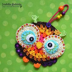 Yet another AMAZING creation by the talented hands of Vendulka Maderska! I adore her Etsy crochet handicrafts!   ☀CQ #crochet #crafts #DIY Crochet owl ornament pattern