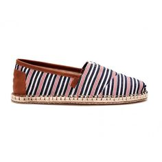 Liven things up with our woven Alpargatas. Featuring dynamic stripes and more cushioning than ever, you'll want to build your outfit from the shoes up. Children In Need, Black Canvas, Men's Shoes, Toms, Espadrilles, Husband, Pairs, Mens Fashion, Navy