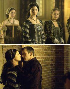The Tudors (2007 - 2010) Starring: Natalie Dormer as Anne Boleyn and Jonathan Rhys Meyers as Henry VIII of England. (click thru for larger image)