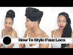 How to style Faux locs | 5 ways | shaved sides - YouTube