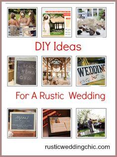 DIY Ideas For A Rustic Wedding