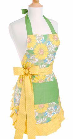 bright yellow spring flower apron