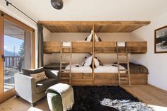 Luxury Chalet Dent Blanche, Verbier, Switzerland, Luxury Ski Chalets, Ultimate Luxury Chalets - Luxury Homes Cabin Bunk Beds, Bunk Bed Rooms, Chalet Chic, Chalet Style, Ski Chalet Decor, Chalet Interior, Interior Design, Interior Decorating, Luxury Home Decor