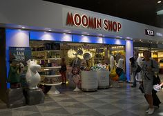 the moomin shop in Helsinki airport