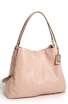COACH 'Madison - Small Phoebe' Leather Shoulder Bag available at #Nordstrom I want this in the GREY BIRCH color (not pictured.)
