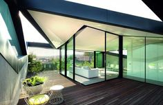 Modern Architecture, Pitched Roof House - Chenchow Little Architects, Modern Building Triangular Architecture, Roof Architecture, Residential Architecture, Amazing Architecture, Contemporary Architecture, Casa Patio, Patio Roof, Pergola With Roof, Diy Pergola