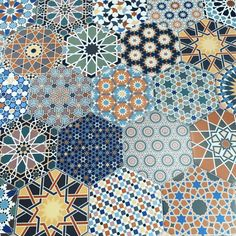 Andalucia Patterned Porcelain Wall And Floor Tile - Hexagon Tiles from Tile Mountain Porcelain Hexagon Tile, Hexagon Tiles, Hexagon Pattern, Hexagon Patchwork, Spanish Pattern, Spanish Tile, Floor Patterns, Tile Patterns, Hall Flooring