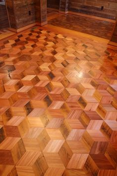 A rhombus patterned floor we designed and install in the model house @ Viniterra