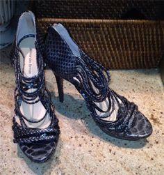 New Alexandre Birman Metallic Python Strappy Platform Pumps Sandals Shoes 10 | eBay