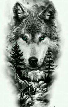Lion Tattoo Sleeves, Nature Tattoo Sleeve, Wolf Tattoo Sleeve, Forearm Sleeve Tattoos, Wolf Tattoo Design, Tattoo Design Drawings, Tattoo Sleeve Designs, Wolf Girl Tattoos, Tattoos For Guys