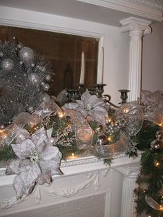 One Shabby Old House Blog - another beautiful mantel!  This is a beautiful blog!