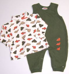 Carters Two Piece Romper Multi-Color Dinosaur Set Boys Size 3-6 Months #Carters #Everyday