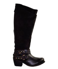Another great find on #zulily! Dark Brown Nancy Leather Boot #zulilyfinds