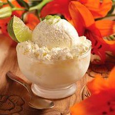 Caribbean Pineapple-Lime Ice Cream - Super Easy
