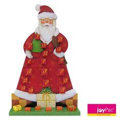 """#Adventskalender XL """"Santa"""" von #joyPac® ● Aufgestelltes Format: 53 x 26 x 84 cm ●  #Wellpappe, #Karton, #Kreativ, #Advent, #Weihnachten, #Nikolaus"""