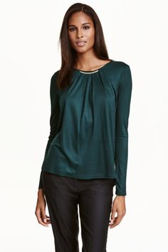 Necklace-trim top